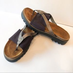 Naot Sunbeam Sandals Shoes Brown Size 39